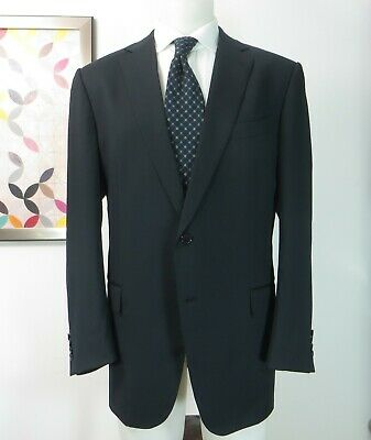 Ermenegildo Zegna Multiseason Wool dark blue sports coat jacket blazer 46 R for sale  Canada