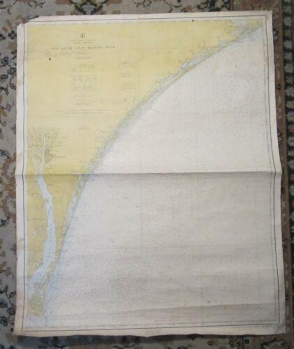 Nautical Chart of TOPSAIL, WILMINGTON & CAPE FEAR, North Carolina -- 1962
