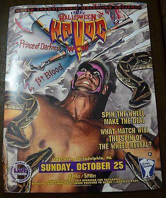 WCW Halloween Havoc 1992 Poster 16x20 Sting Jake the Snake WWE WWF