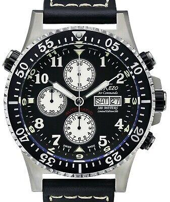 Xezo Air Commando Diver Pilot Swiss Automatic Valjoux 7750 Chronograph 30 ATM WR