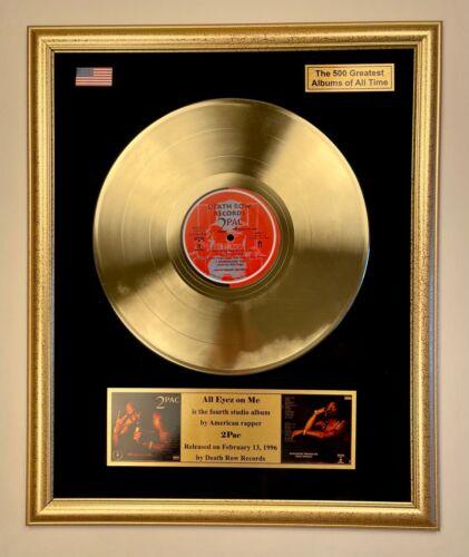 2Pac - All Eyez On Me Vinyl Gold Record Framed Display