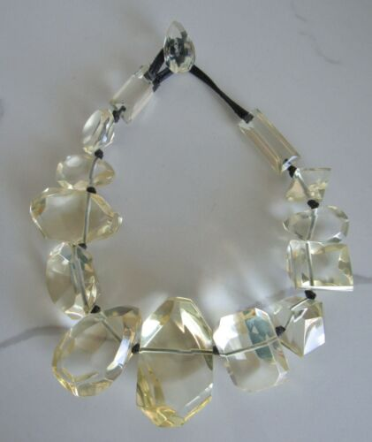 GERDA LYNGGARD MONIES CHUNKY FACETED LUCITE STATEMENT NECKLACE DENMARK MCM