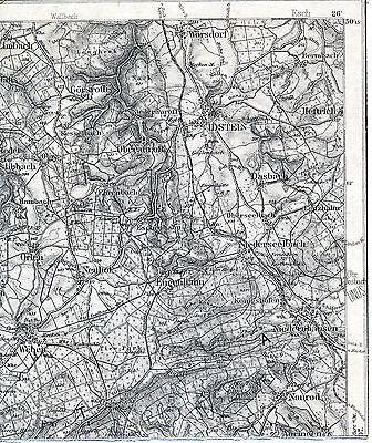 Idstein Niedernhausen Wehen 1911 kl. orig. Teilkarte/Ln. Heftrich Limbach Orlen