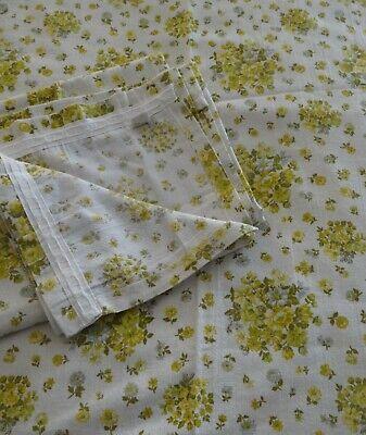 "Pair of Vintage St Michael Curtains  Floral 64"" Wide x 50"" Drop"