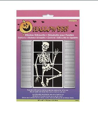 "HALLOWEEN Window SILHOUETTE Skeleton 30""X48"" Decoration PARTY - Halloween Silhouettes Skeleton"
