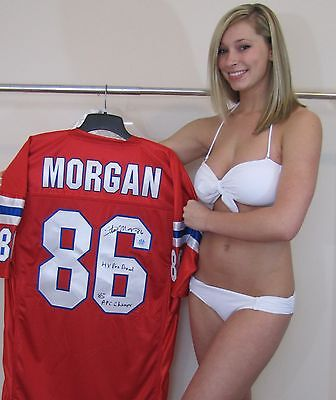 Stanley Morgan Signed Jersey   Patriots  4X Pro Bowl   85 Afc Champ  Inscription