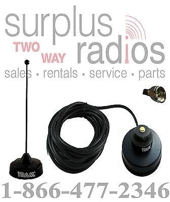 Black Vhf Magnet Mount Antenna Kit Motorola Mobile Cdm1250 Cdm750 Cm300 Cm200