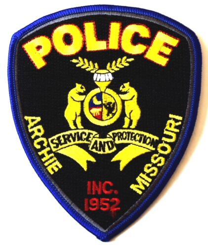 ARCHIE MISSOURI MO Sheriff Police Patch STATE SEAL BEARS CRESCENT MOON ~