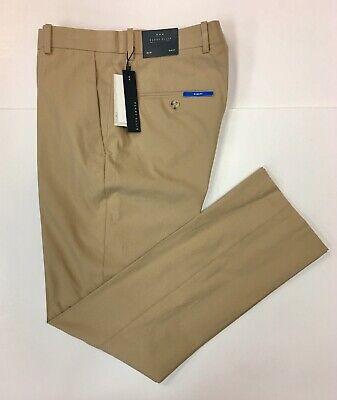 Perry Ellis Men's Slim Fit Solid Pale Khaki Pant. 4BHB4350PS. ()