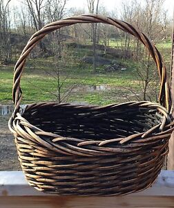 Large Wicker Handled Basket