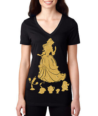 Belle The Princess (Belle Bella princess Beauty And The Beast women ladies Disney Vacation T Shirt)