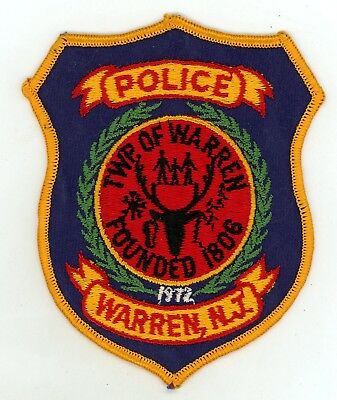 Township of Warren Police Department New Jersey Vintage Style