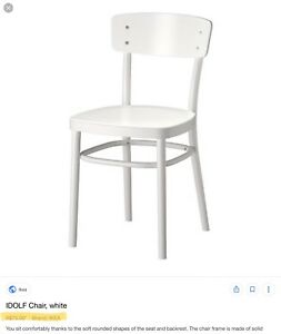 Dining chair white IKEA. Idolf