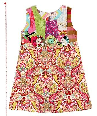 Childrens Designer Boutique (Designer Boutique Style Little Girls Size 5 Colorful Paisley Print Party  Dress)