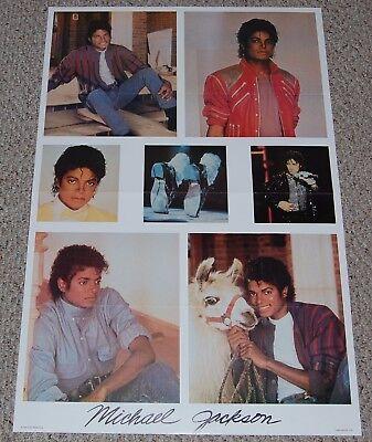 MICHAEL JACKSON Thriller Beat It Collage Poster 1983 Euro-Décor Netherlands