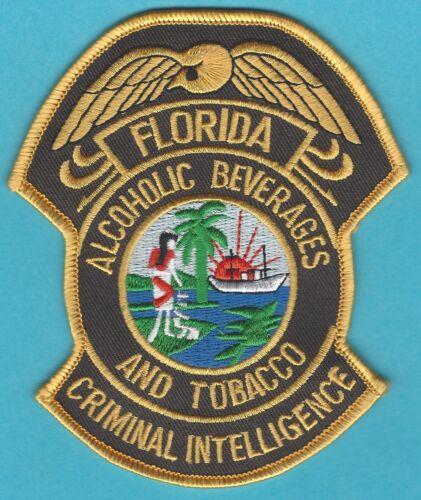 FLORIDA ALCOHOLIC BEVERAGES & TOBACCO CRIMINAL INTELLIGENCE SHOULDER PATCH