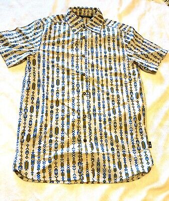 New Men's The North Face Short Sleeve Baker Shirt XL Tribal Pattern