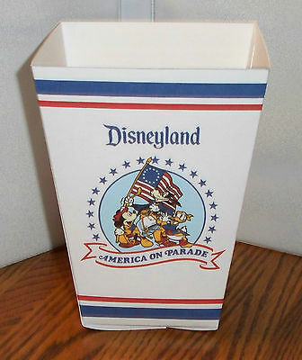 Disneyland Popcorn Box 1. America On Parade. Mickey Donald Goofy.