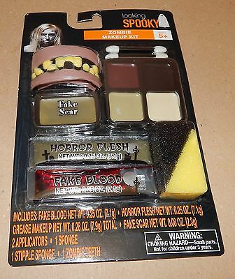 Halloween Makeup Kit Looking Spooky Grease Zombie Teeth Scar Flesh Blood 116U](Zombie Halloween Makeup Kits)
