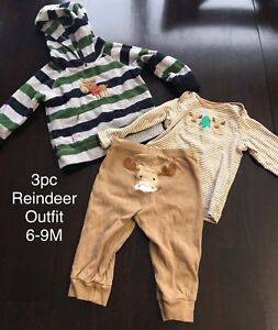 3pc Reindeer Outfit 6-9M