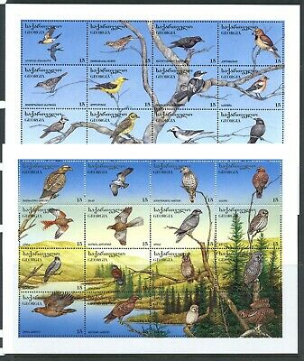 Y171  Georgia  1996   birds  - two sheets of 16 each   MNH