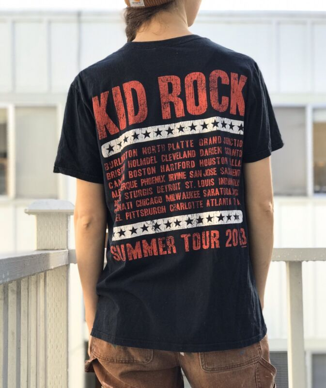 Kid Rock Best Night Ever 2013 Summer Tour Tee Concert Graphic T Shirt Size M