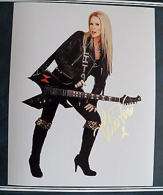 Rock Goddess Lita Ford Signed 8x10 Photo Auto Autograph The Runaways