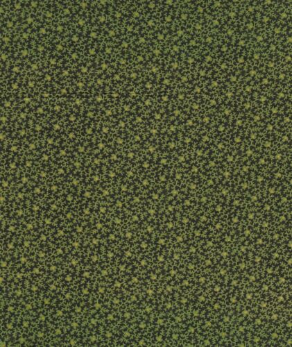 Antique 1880 Green Twigs Fabric