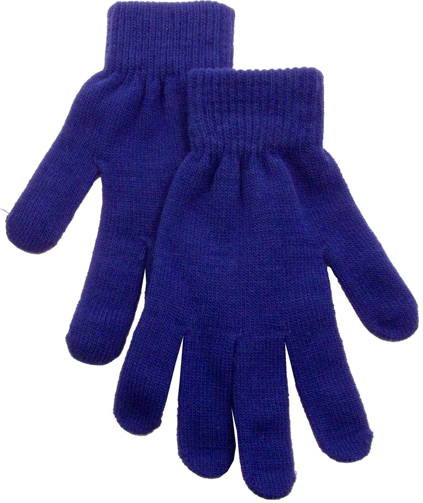 Soft Winter Men Women Gloves Solid Warmer Knitted Acrylic Mi