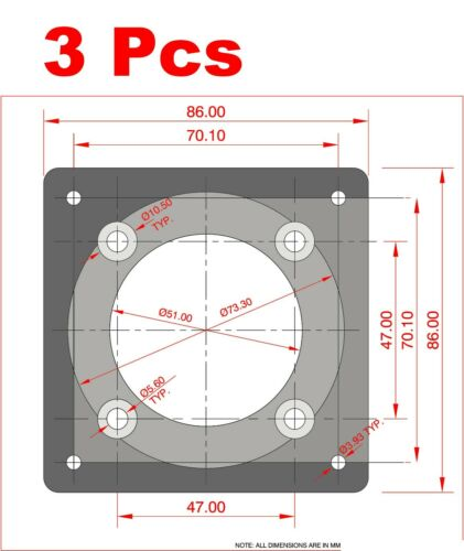 3 Pcs  Mount a NEMA 34 CNC Motor to a NEMA 23 Coupler Housing