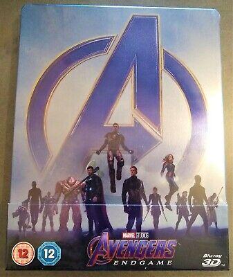 AVENGERS ENDGAME Blu-ray 3D + 2D + Bonus Disc UK Limited Edition STEELBOOK