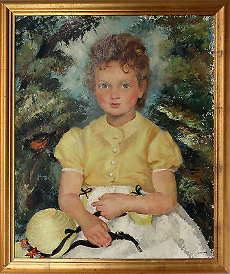 Canadian 20Th Century Oil Painting Ernest Alfred Dalton 1887 1963 Of Young Girl