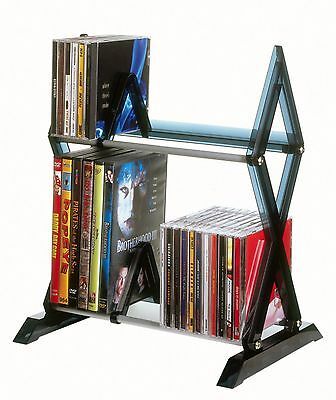 Rack CD DVD Storage Organizer Shelf Tower Cabinet Stand Multimedia Games NEW