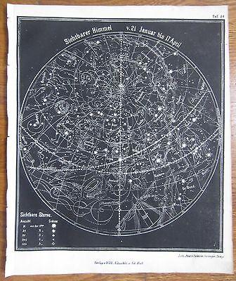 SMITH: Fine Celestial Map Northern Hemisphere III - 1850