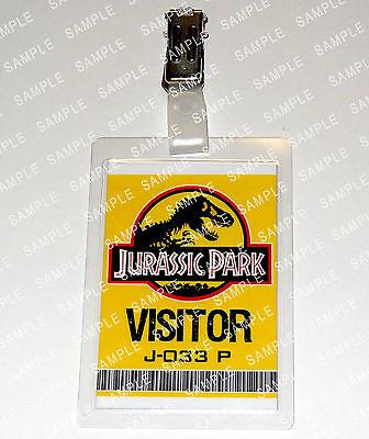 Jurassic Park Dinosaur Visitor Pass Fancy Dress Cosplay Prop Comic Con Halloween - Jurassic Park Fancy Dress
