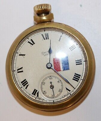 Smiths Empire Pocket watch Gold coloured used working condition