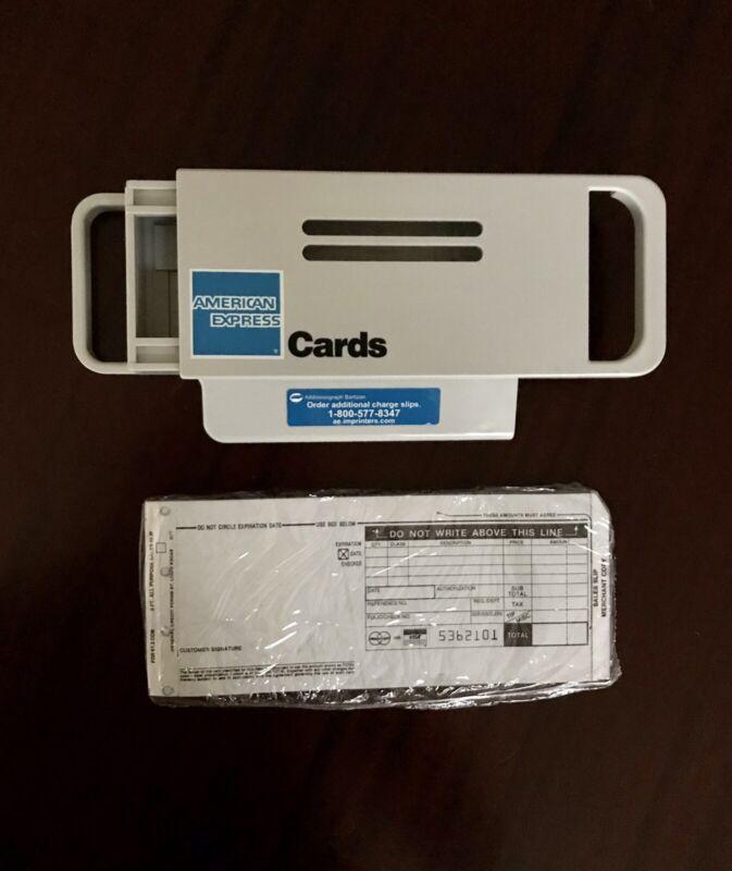Addressograph Bartizan Manual Credit Card Imprint Machine + Unopen 10 Slip Pack
