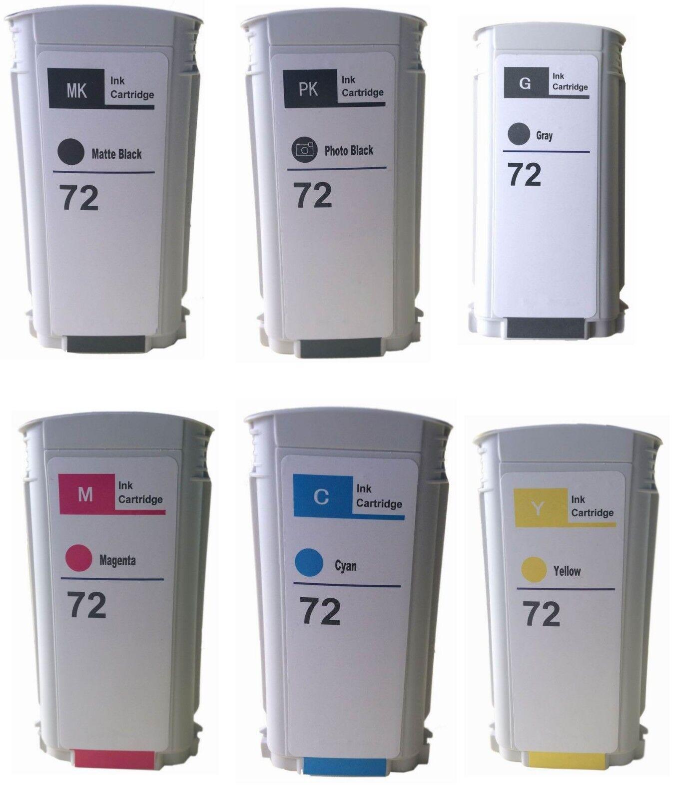 Hp 72 Compatible Ink Cartridges For Hp Designjet T610 620...