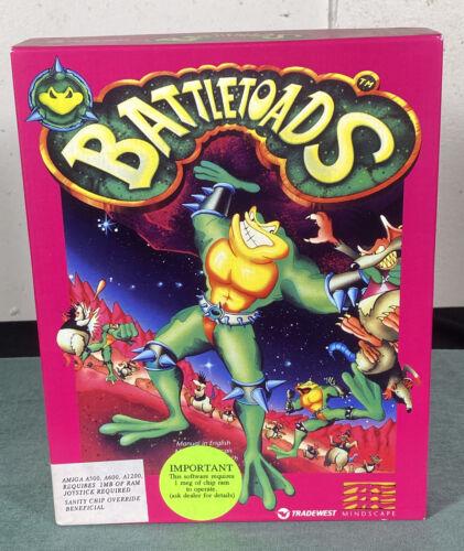 Computer Games - Commodore Amiga Battletoads PC Computer Video Game w/ Manual & Box