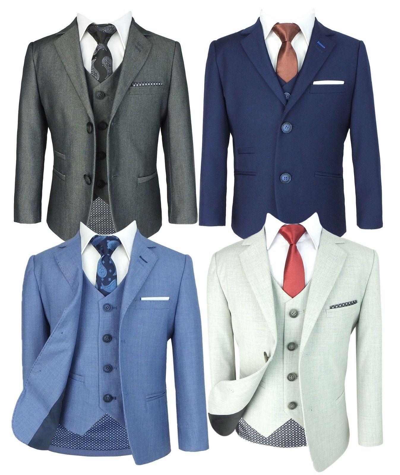 Designer Slim Fit Formeller Jungen Anzug, Hochzeit, Prom von 1 bis 15 Jahre