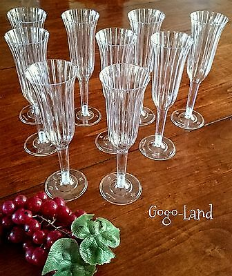 30 Plastic Clear Champagne Cups Flutes Wedding Sweet 16 Celebration Party Favors - Champagne Cups