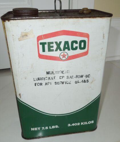 VINTAGE TEXACO 7.5 Pounds  CAN