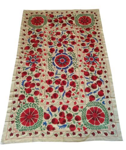Multicolor Vintage Uzbek Hand Embroidery Wall Hanging Suzani SALE WAS $499.00