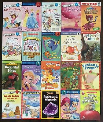 20 Early Readers Level 1 2 Lot for Girls I Can Read Step Into DK K-2nd Free S/H!
