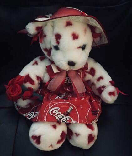 Coca Cola Teddy Bear Build a Bear with Condo Valentines Day Love Hearts