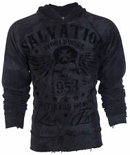 ARCHAIC by AFFLICTION Mens Hoodie Sweat Shirt Jacket BLACK TIDE Biker UFC  $78