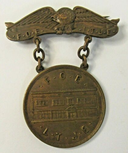 1906 EAGLES #195 SNOHOMISH WASHINGTON Building Dedication medal pinback badge