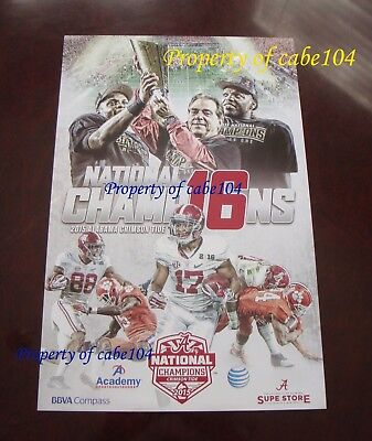 2015 Alabama National Championship Celebration Poster Nick Saban & Derrick Henry