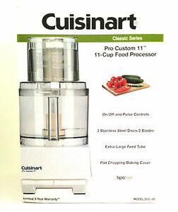 Cuisinart DLC-8S Pro Custom 11 Classic Series 11 Cups Food Processor