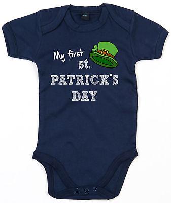 My First St Patrick's Day Baby Outfit Grow Babygrow Leprechaun Cute Irish L191